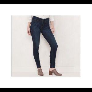 LC Lauren Conrad dark finish high rise jeans EUC 8